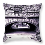 Man Under The Bridge Throw Pillow