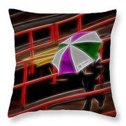 Man Under Umbrella Throw Pillow