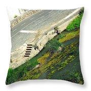 Man Vs Nature Throw Pillow
