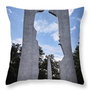 Man With A Briefcase II Throw Pillow