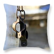Manacles At The Old Fort Throw Pillow