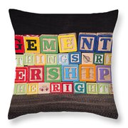 Management Is Doing Things Right Leadership Is Doing The Right Things Throw Pillow