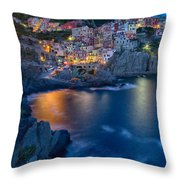 Manarola By Twilight Throw Pillow