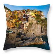 Manarola Throw Pillow by Inge Johnsson