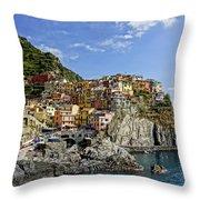 Manarola Italy Dsc02563  Throw Pillow