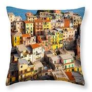 Manarola Town Throw Pillow