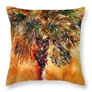 Manasota Key Palm 1 Throw Pillow