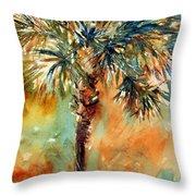 Manasota Key Palm 2 Throw Pillow