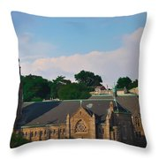 Manayunk - Saint John The Baptist Church Throw Pillow