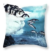 Manchot Adelie Pygoscelis Adeliae Throw Pillow