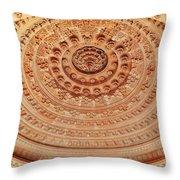 Mandala - Jain Temple Ceiling - Amarkantak India Throw Pillow
