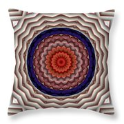 Mandala 10 Throw Pillow by Terry Reynoldson