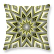 Mandala 107 Yellow Throw Pillow