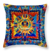 Mandala Amitayus Buddha Throw Pillow