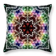 Mandala Cage Of Light Throw Pillow
