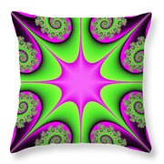 Mandala Cheerful Throw Pillow