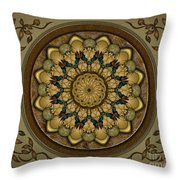 Mandala Earth Shell Sp Throw Pillow by Bedros Awak
