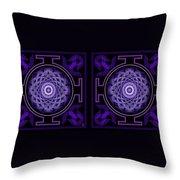 Mandala Hypurplectic - Stereogram Throw Pillow