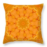 Mandala Night Bloom Throw Pillow