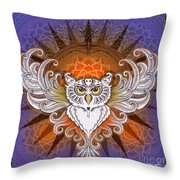 Mandala Owl Throw Pillow