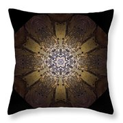 Mandala Sand Dollar At Wells Throw Pillow