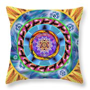Mandala Wormhole 101 Throw Pillow by Derek Gedney