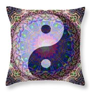 Mandala Yin Yang Throw Pillow