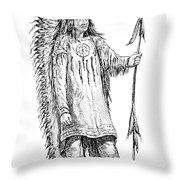 Mandan Indian Chief Throw Pillow