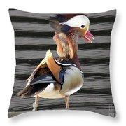 Mandarin Duck Throw Pillow