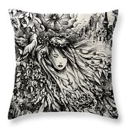 Mandee's Dream Throw Pillow by Rachel Christine Nowicki