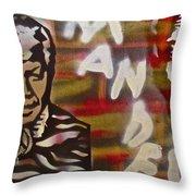 Mandela Throw Pillow by Tony B Conscious
