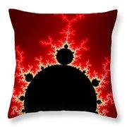 Mandelbrot Fractal Flash Power Red And Black Throw Pillow