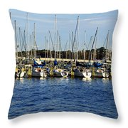 Mandarin Park Boats On Julington Creek Throw Pillow