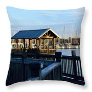 Mandarin Park Boathouse Throw Pillow