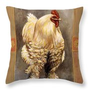 Mandy The Rooster Throw Pillow
