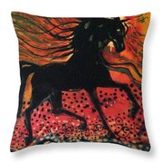Mane In Autumn Light Throw Pillow