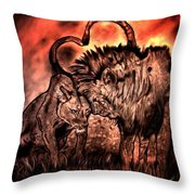 Mane Squeeze Throw Pillow