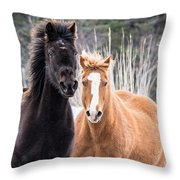 Manes Flying Throw Pillow