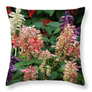 Manet's Garden Throw Pillow