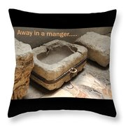 Manger At The Ecce Homo Convent In Jerusalem Throw Pillow