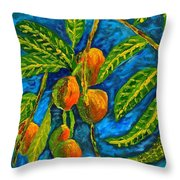 Mangoes Delight Throw Pillow