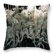 Mangrove Aerial Roots Throw Pillow