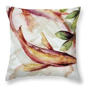 Mangrove Pisces Throw Pillow by Ashley Kujan