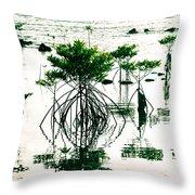 Mangroves Throw Pillow
