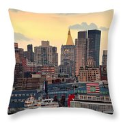 Manhatan Ny  Throw Pillow by Emmanuel Panagiotakis
