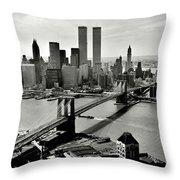 Manhattan 1978 Throw Pillow
