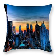Manhattan At Sunset Throw Pillow