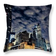 Manhattan Bound Version A Throw Pillow