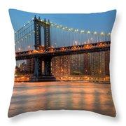 Manhattan Bridge I Throw Pillow