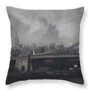 Manhattan Bridge Throw Pillow